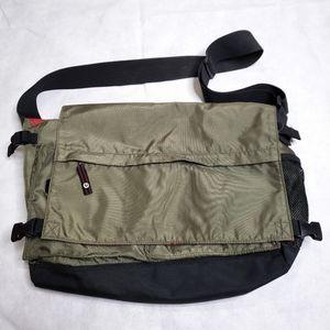 Gap Olive Green Mens Messenger Shoulder Book Bag